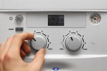 Mandos de la caldera de gas natural