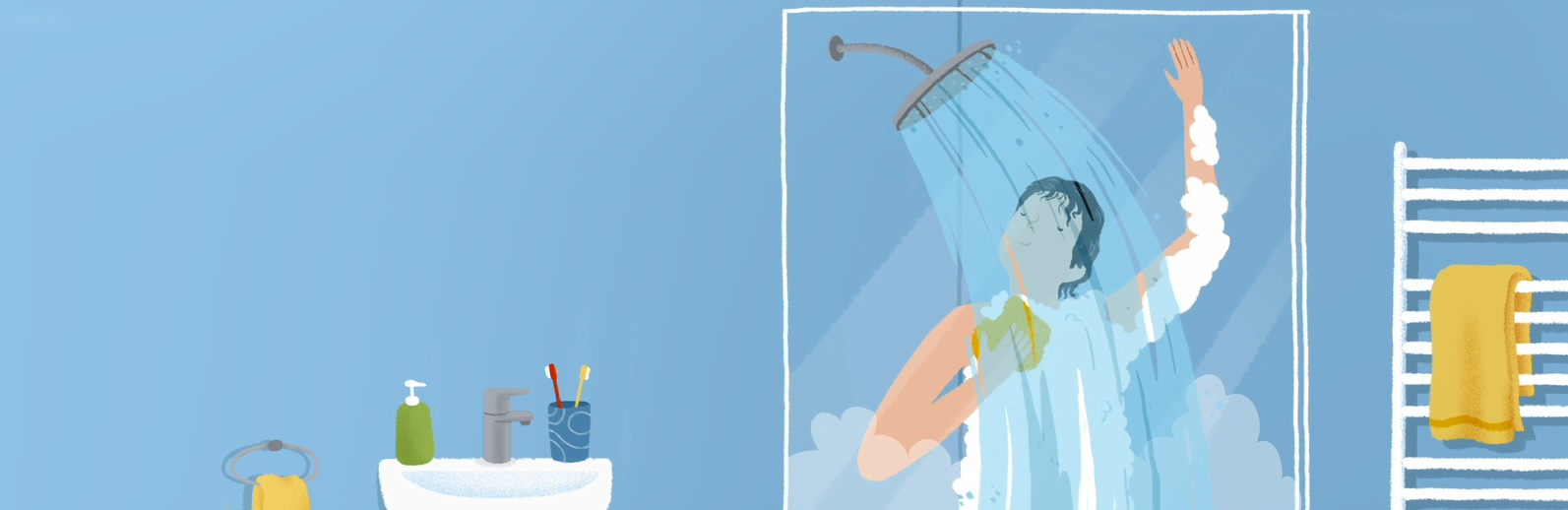 ducha confortable con gas natural