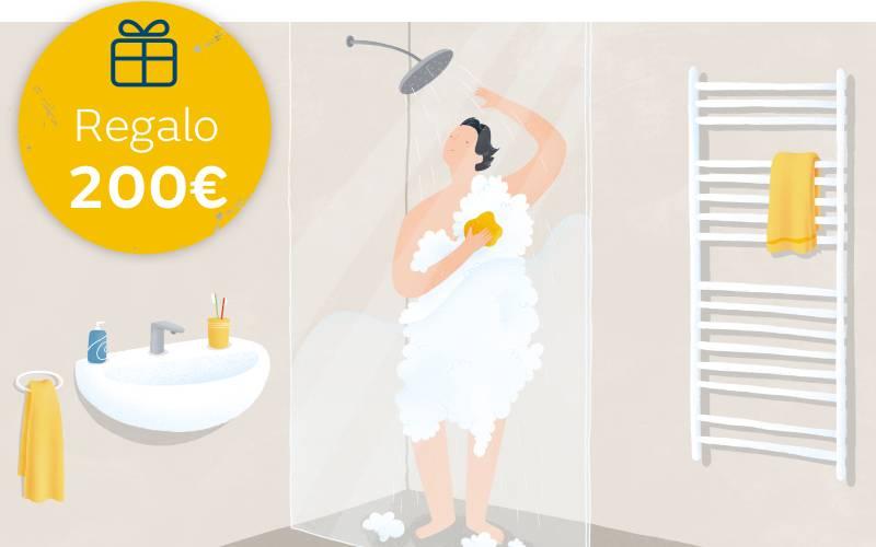 Oferta de 200 euros por contratar gas natural para agua caliente