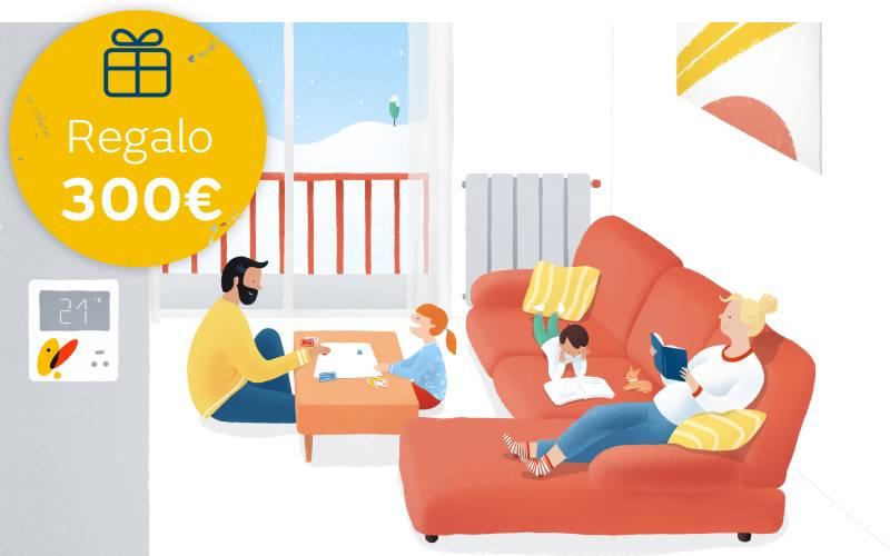 Oferta de 300 euros por contratar gas natural para calefacción