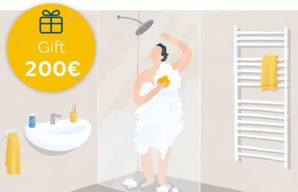 Oferta de 200 euros si es contracta gas natural per a aigua calenta